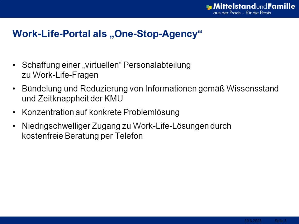 "Work-Life-Portal als ""One-Stop-Agency"
