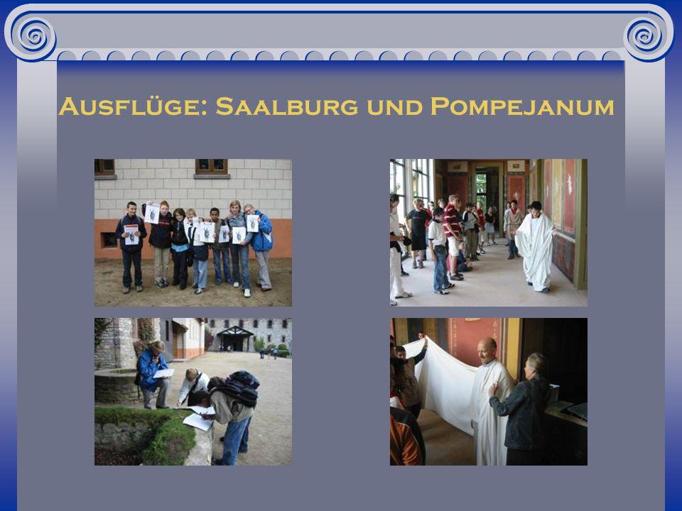Ausflüge: Saalburg und Pompejanum