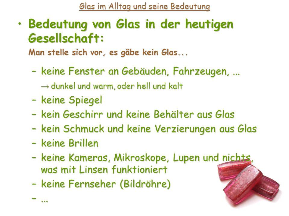 Glas im Alltag und seine Bedeutung