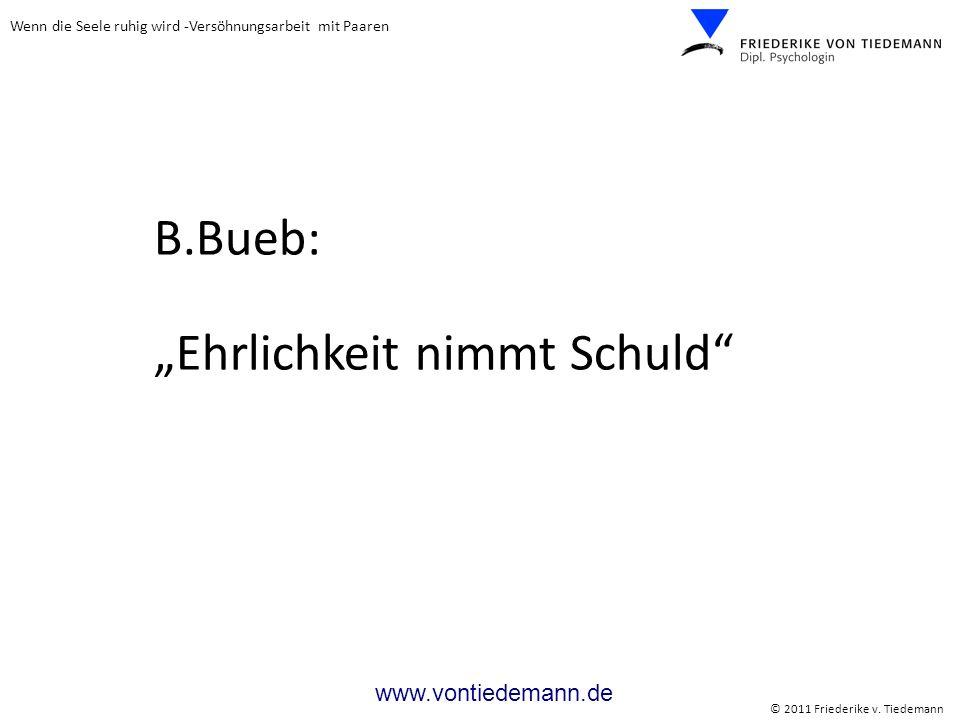 """B.Bueb: """"Ehrlichkeit nimmt Schuld"""