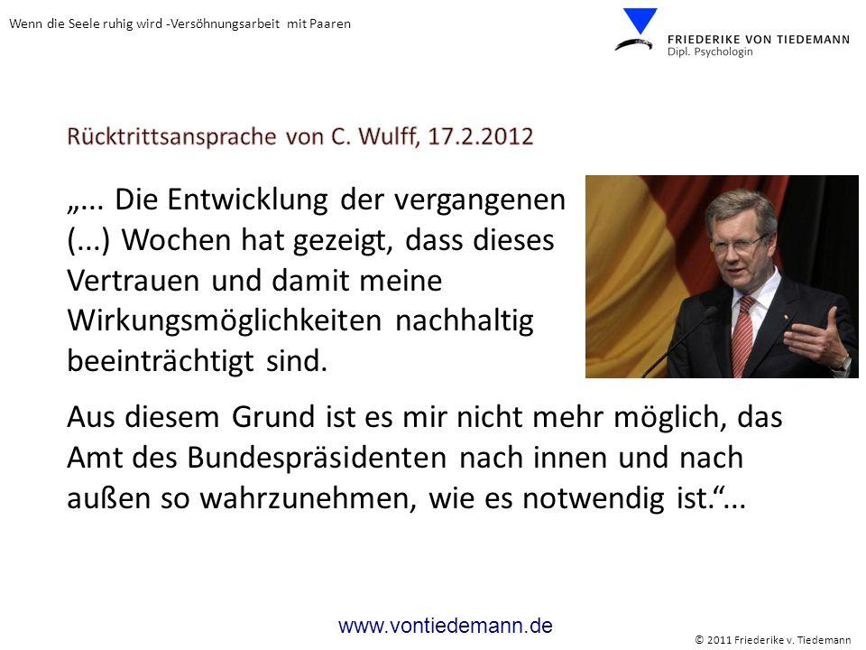 Rücktrittsansprache von C. Wulff, 17.2.2012