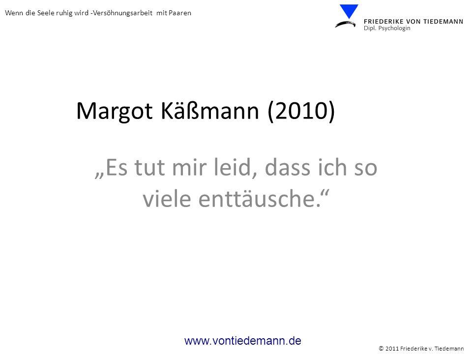 """Margot Käßmann (2010) """"Es tut mir leid, dass ich so viele enttäusche."""