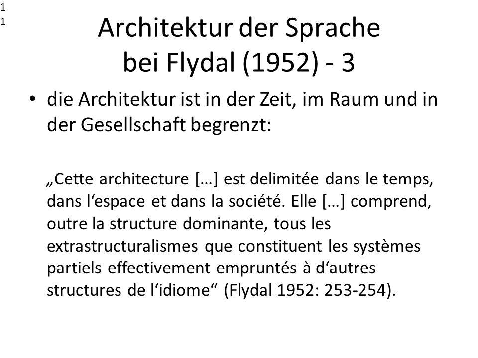 Architektur der Sprache bei Flydal (1952) - 3