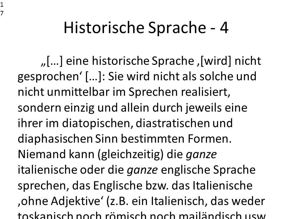 17171717. Historische Sprache - 4.