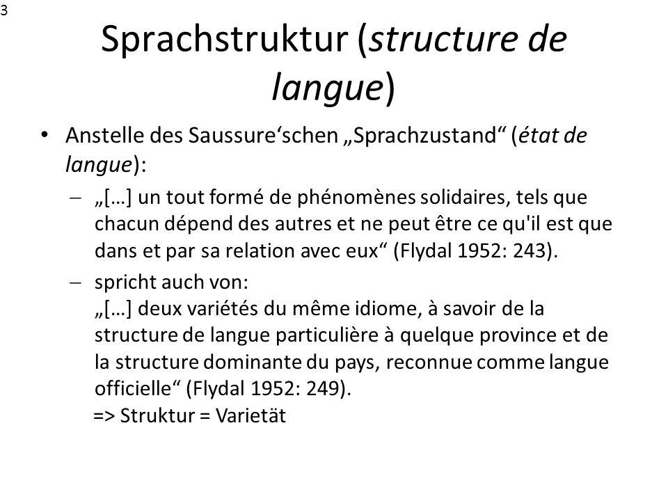 Sprachstruktur (structure de langue)