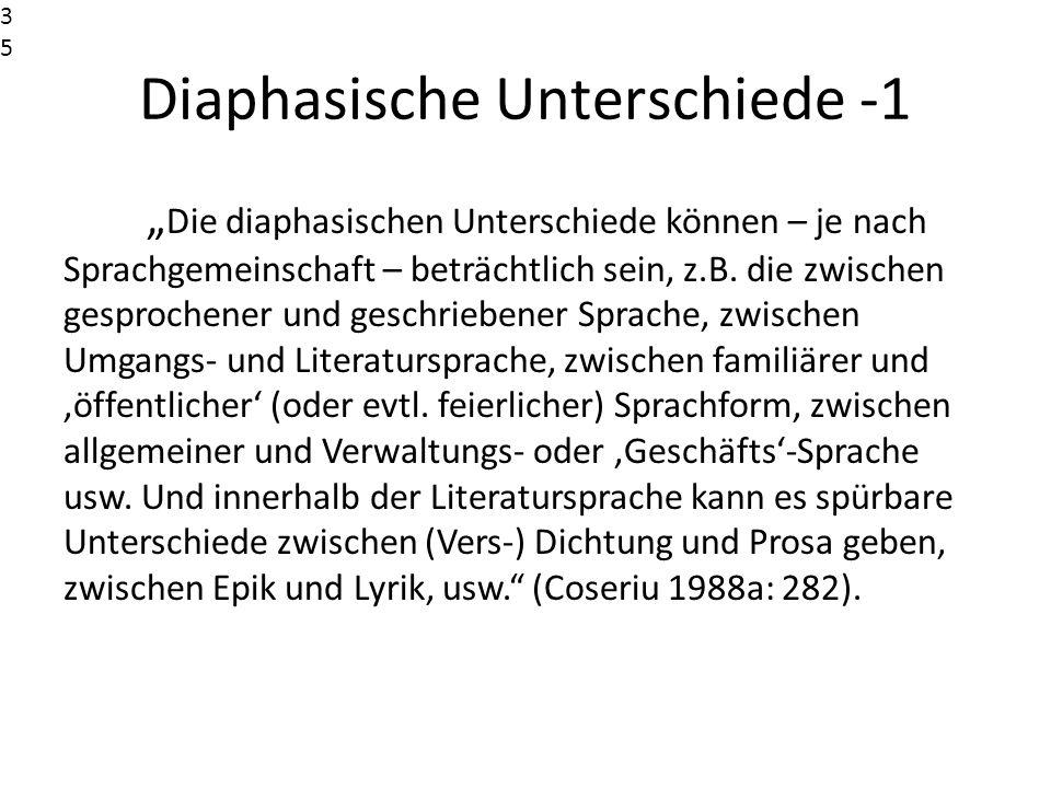 Diaphasische Unterschiede -1