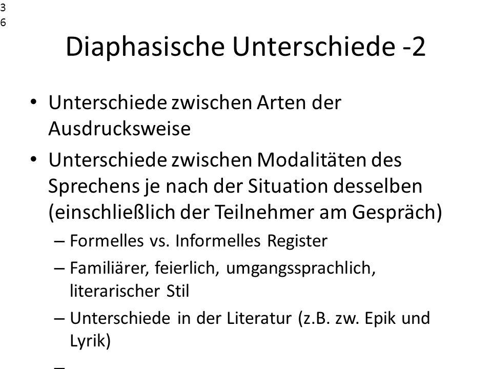 Diaphasische Unterschiede -2
