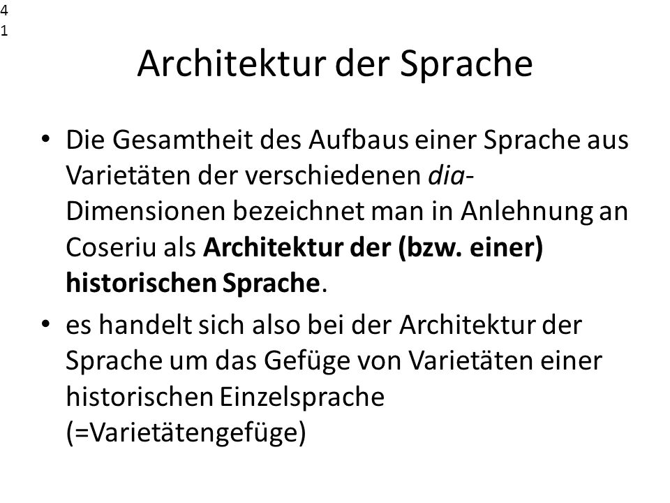 Architektur der Sprache