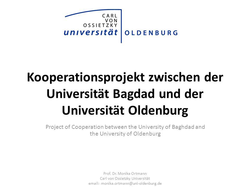 Kooperationsprojekt zwischen der Universität Bagdad und der Universität Oldenburg