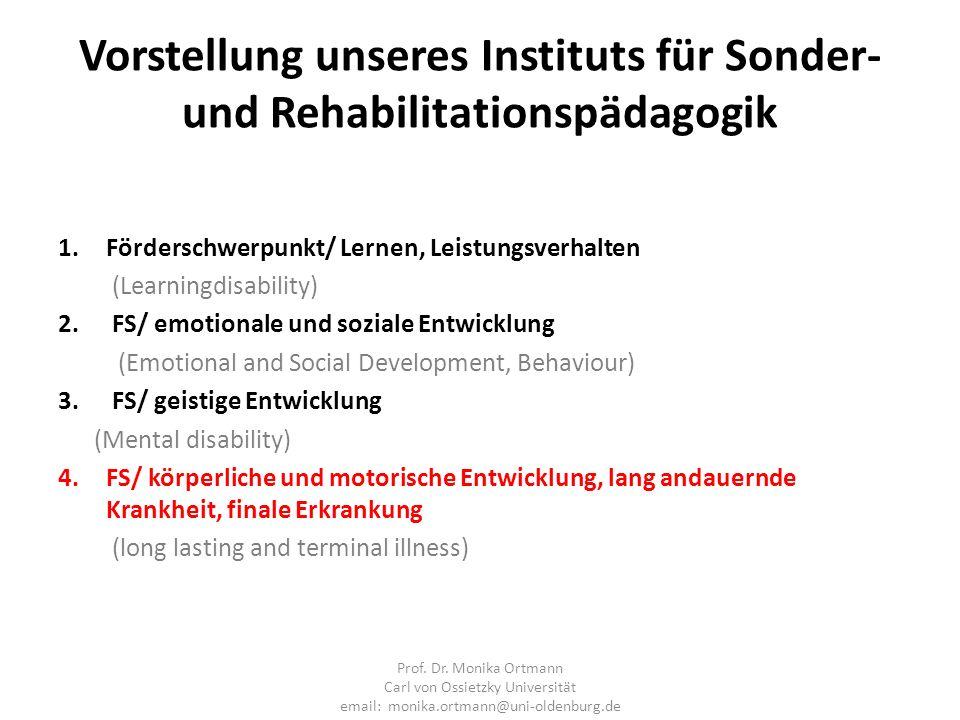 Vorstellung unseres Instituts für Sonder- und Rehabilitationspädagogik