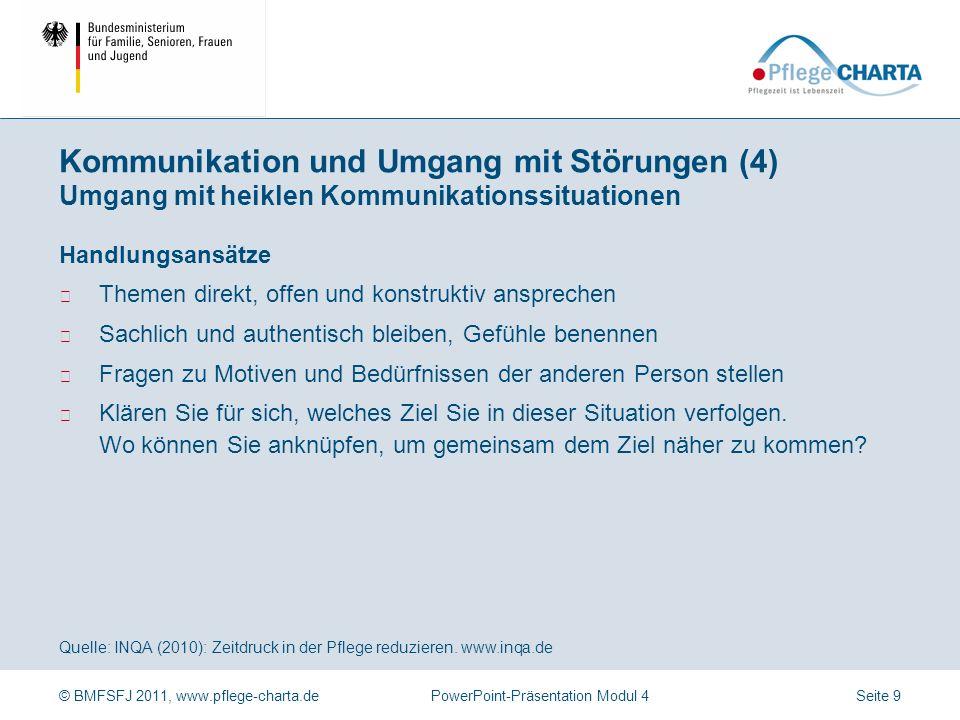 Kommunikation und Umgang mit Störungen (4) Umgang mit heiklen Kommunikationssituationen