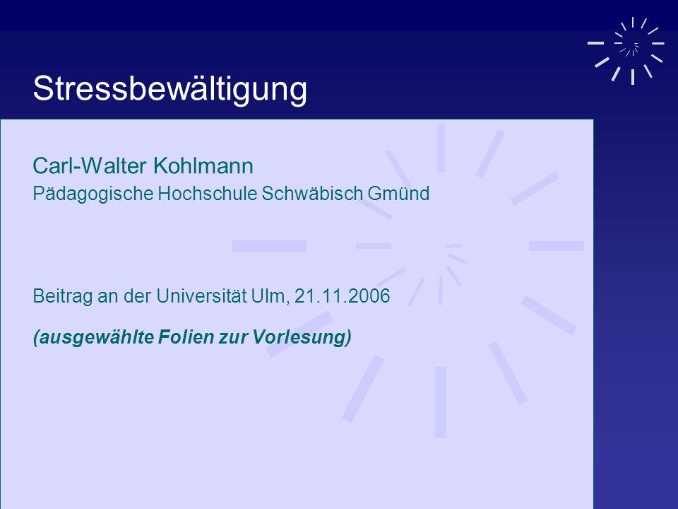 Stressbewältigung Carl-Walter Kohlmann