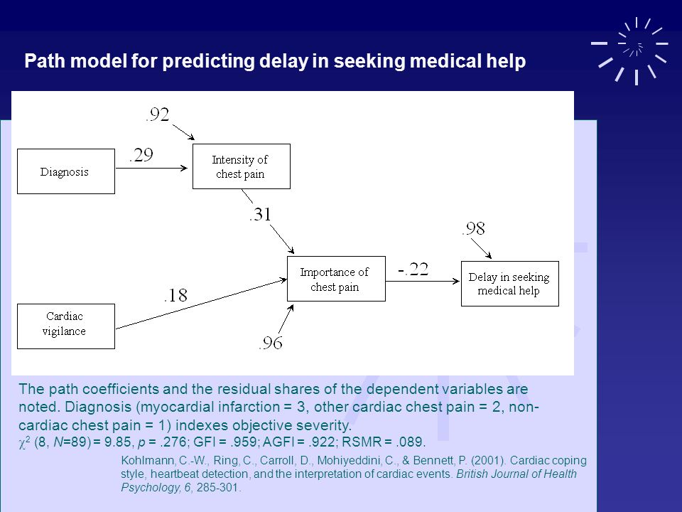 Path model for predicting delay in seeking medical help