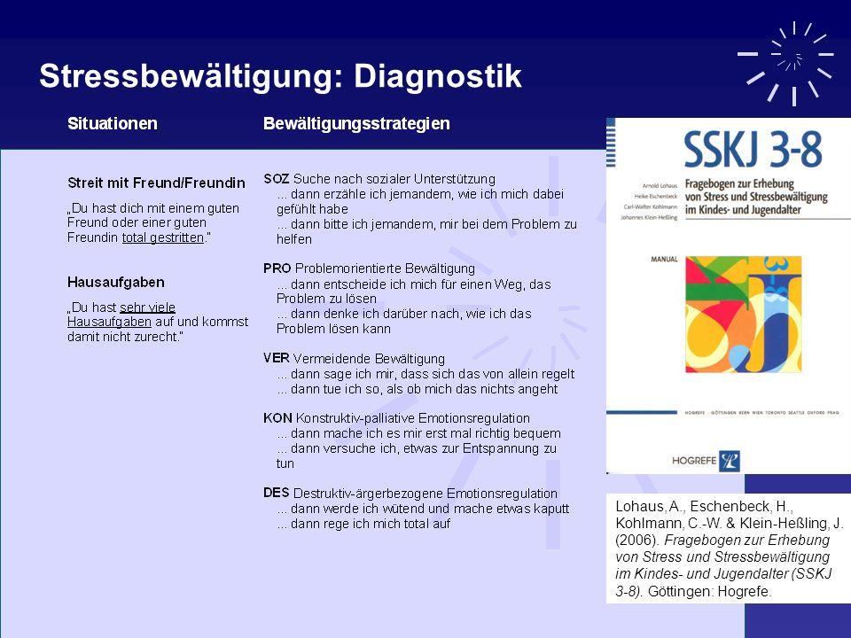 Stressbewältigung: Diagnostik