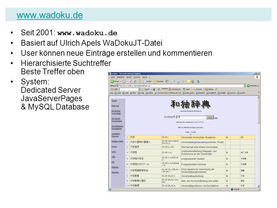 www.wadoku.de Seit 2001: www.wadoku.de