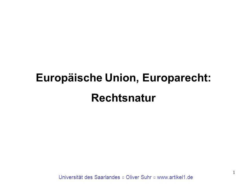 Europäische Union, Europarecht: