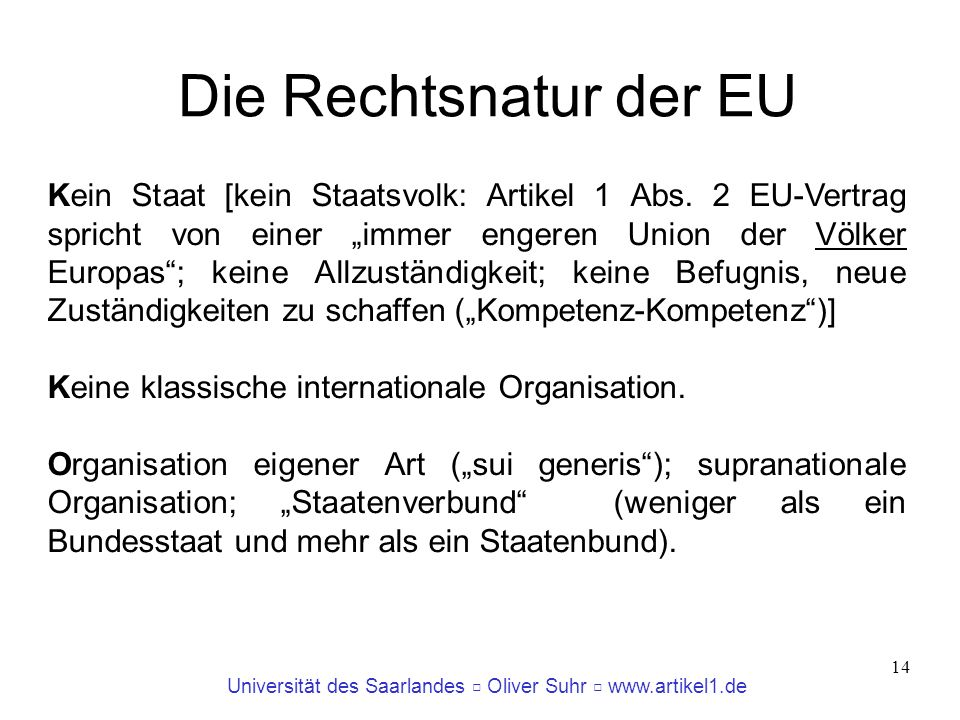 Die Rechtsnatur der EU