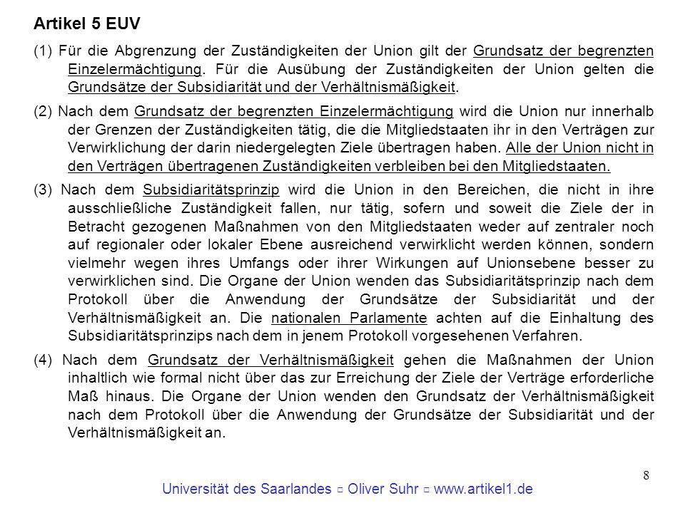 Artikel 5 EUV
