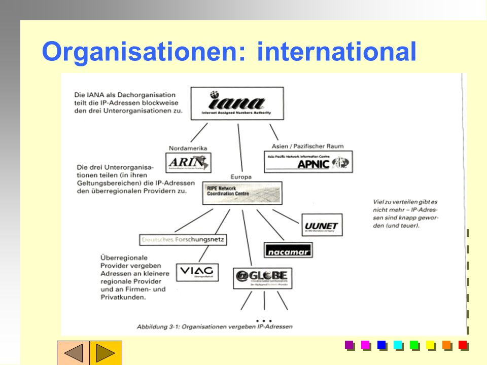 Organisationen: international