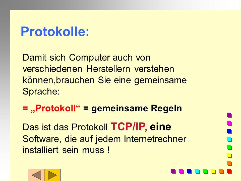Protokolle: Damit sich Computer auch von verschiedenen Herstellern verstehen können,brauchen Sie eine gemeinsame Sprache: