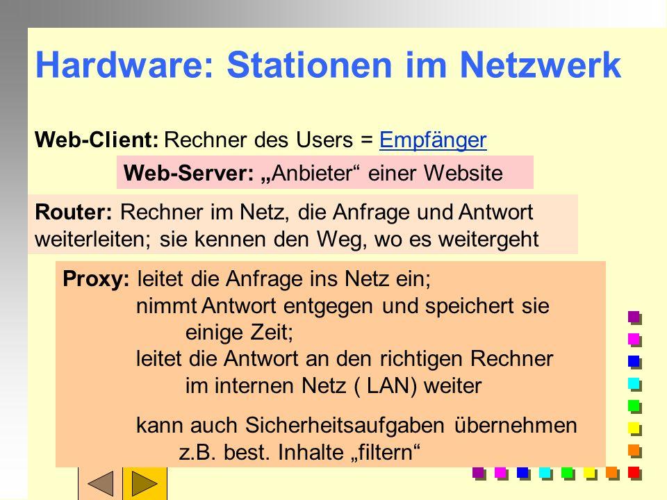 Hardware: Stationen im Netzwerk