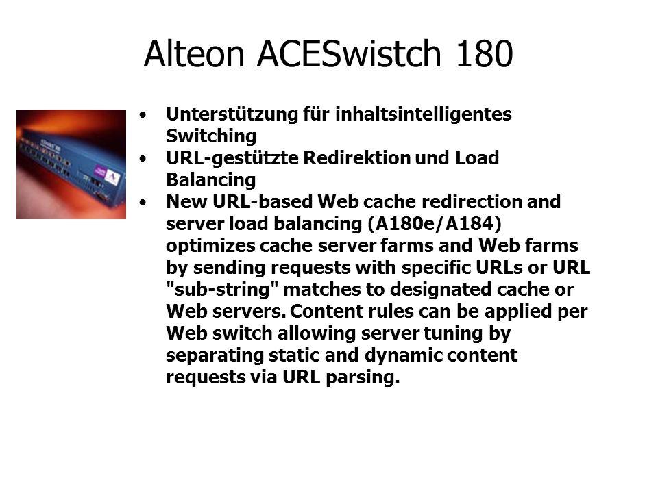 Alteon ACESwistch 180 Unterstützung für inhaltsintelligentes Switching