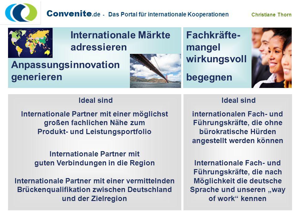 Internationale Partner mit guten Verbindungen in die Region
