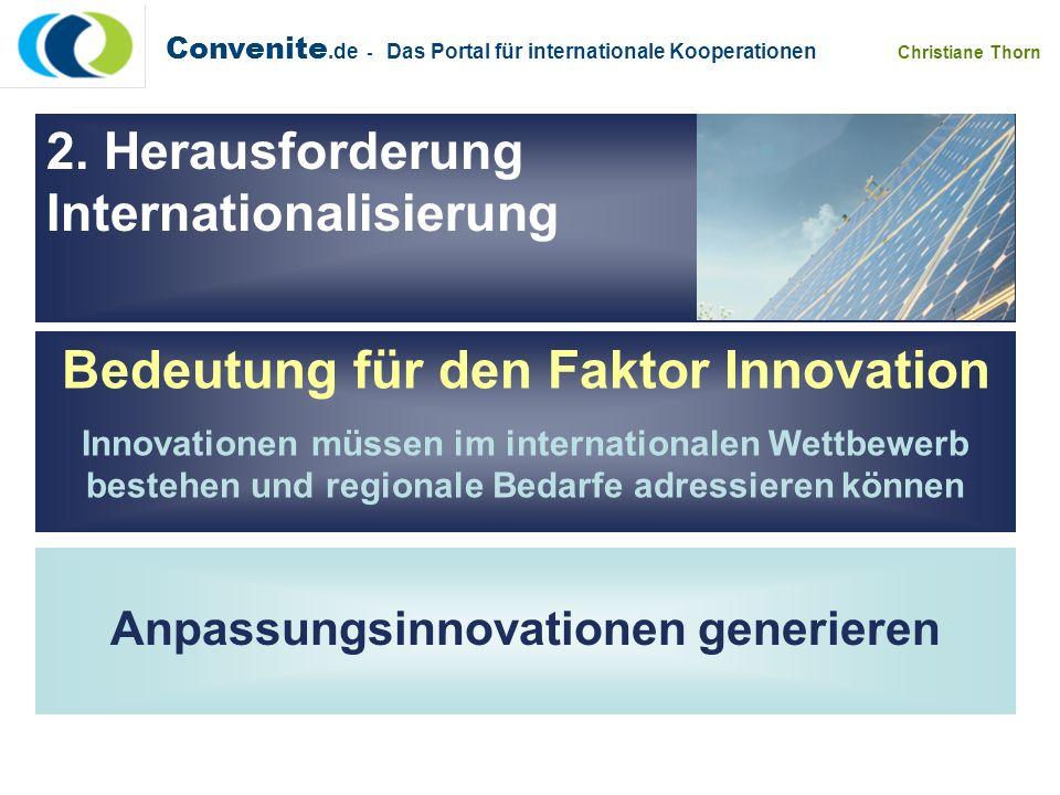Bedeutung für den Faktor Innovation Anpassungsinnovationen generieren