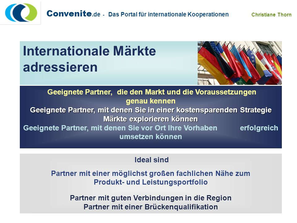 Internationale Märkte adressieren