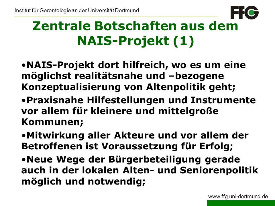 Zentrale Botschaften aus dem NAIS-Projekt (1)