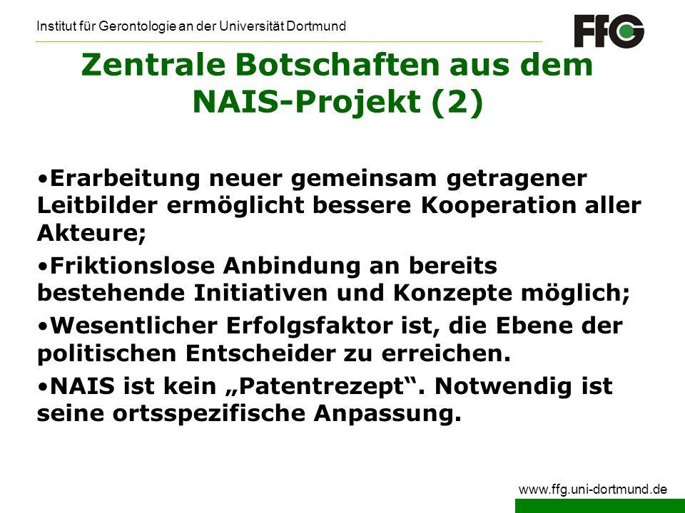 Zentrale Botschaften aus dem NAIS-Projekt (2)