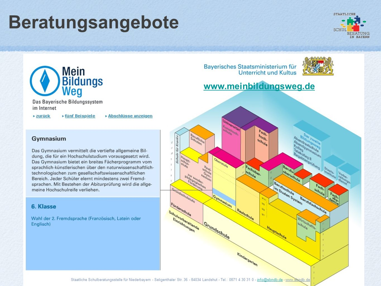 Beratungsangebote www.meinbildungsweg.de