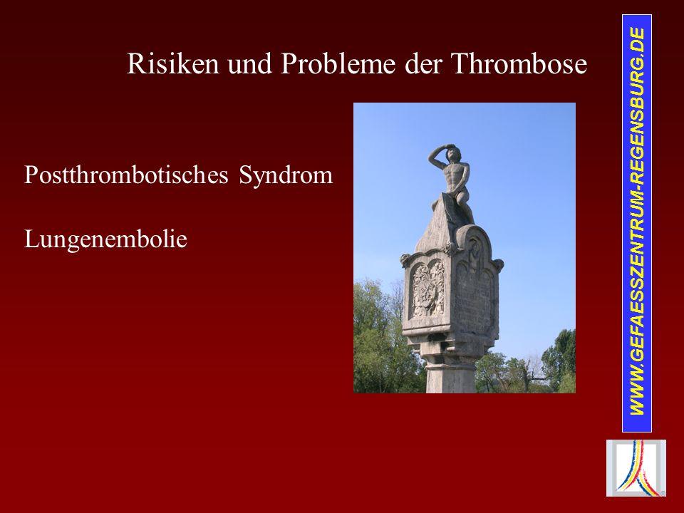 Risiken und Probleme der Thrombose