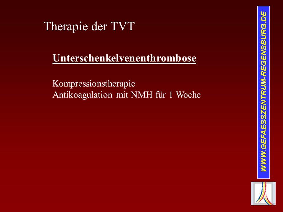 Therapie der TVT Unterschenkelvenenthrombose Kompressionstherapie