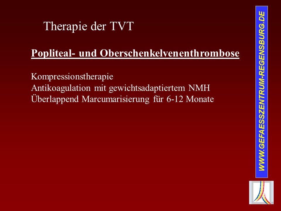 Therapie der TVT Popliteal- und Oberschenkelvenenthrombose