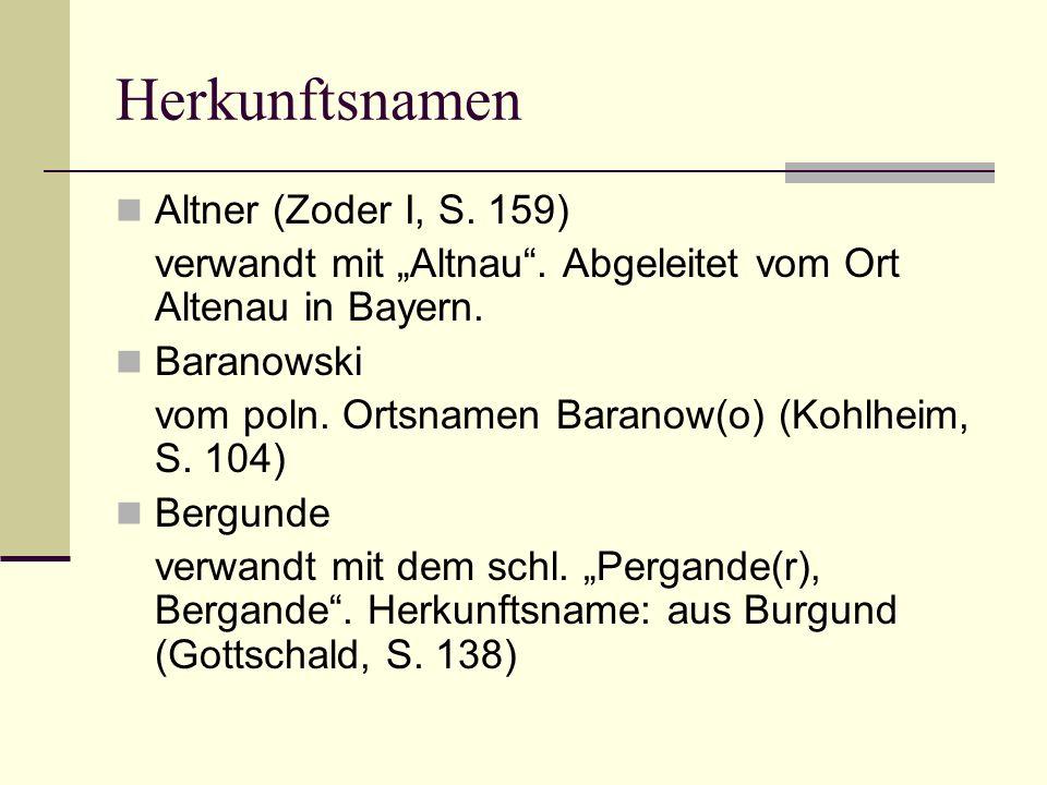 Herkunftsnamen Altner (Zoder I, S. 159)