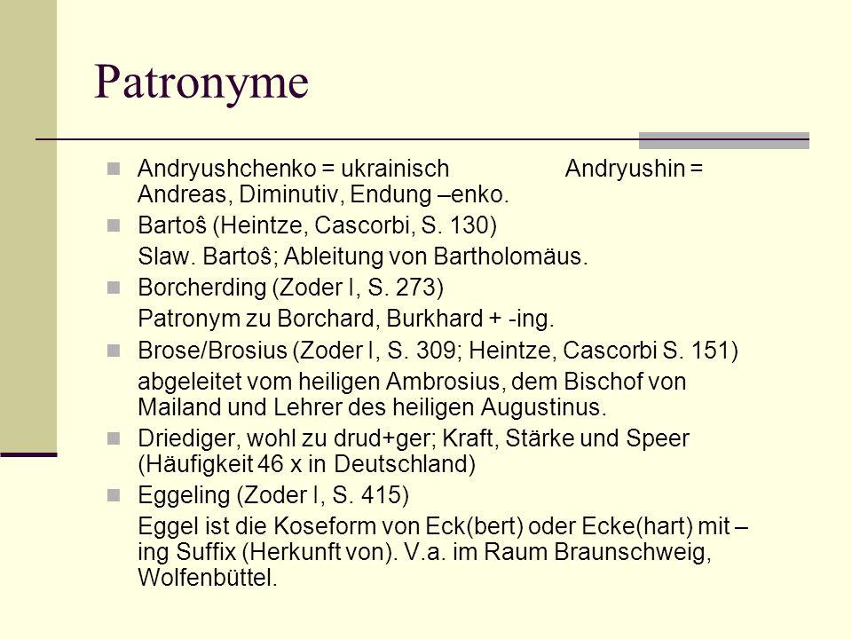 Patronyme Andryushchenko = ukrainisch Andryushin = Andreas, Diminutiv, Endung –enko.