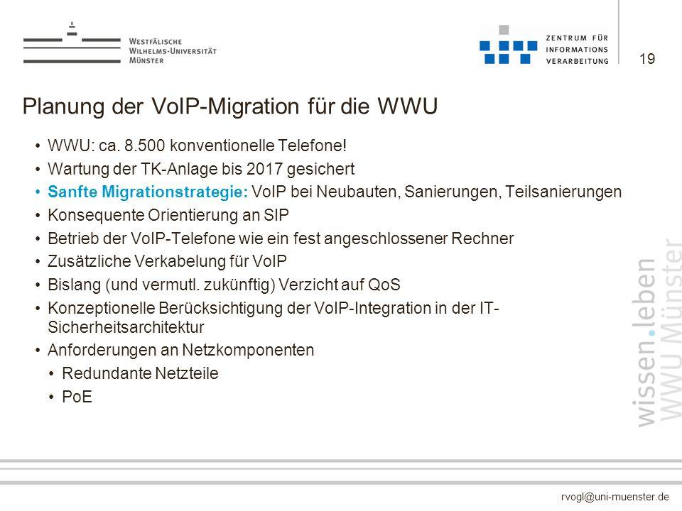 Planung der VoIP-Migration für die WWU