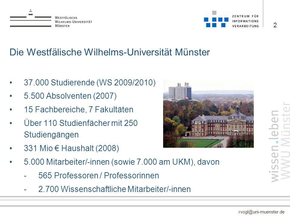 Die Westfälische Wilhelms-Universität Münster