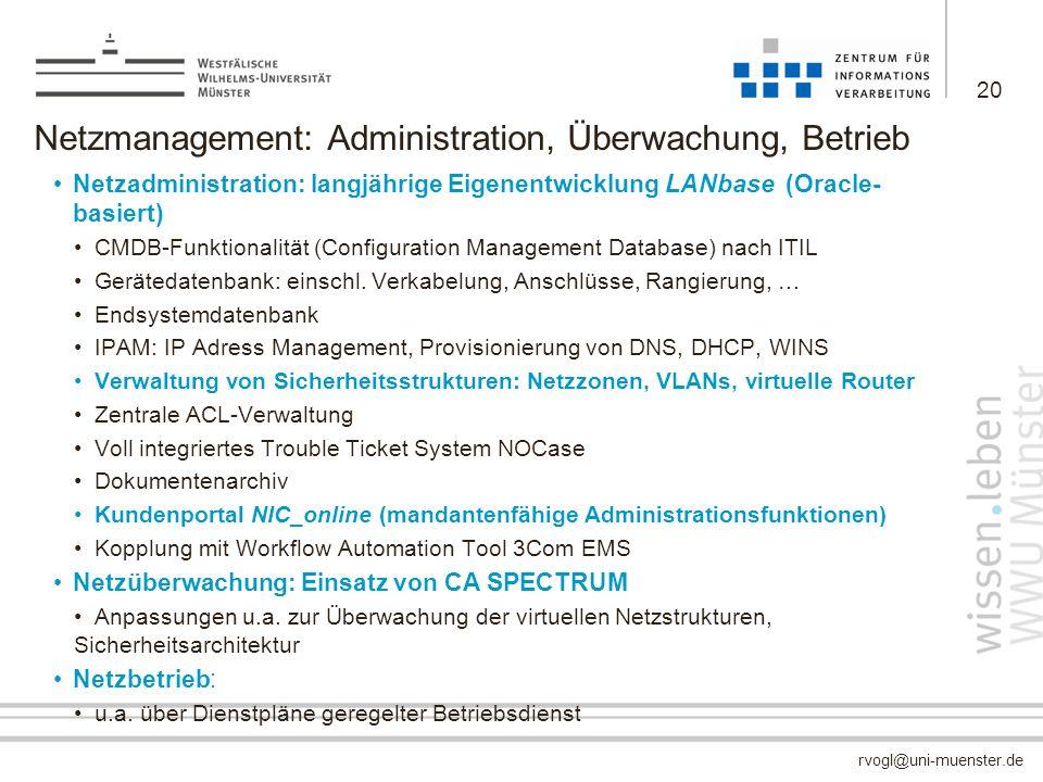 Netzmanagement: Administration, Überwachung, Betrieb