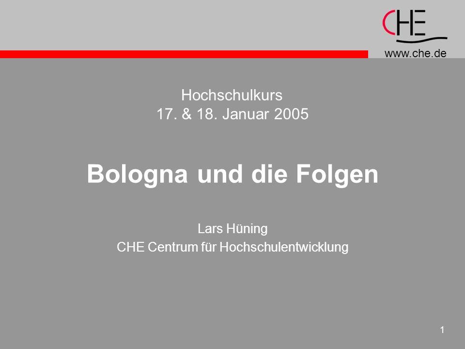 Lars Hüning CHE Centrum für Hochschulentwicklung
