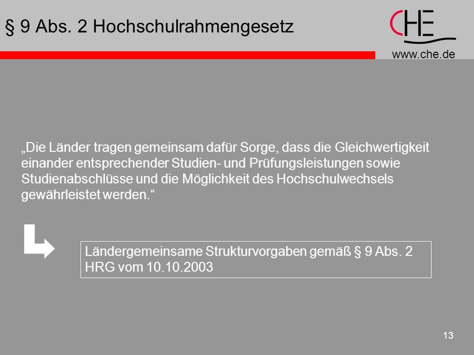 § 9 Abs. 2 Hochschulrahmengesetz