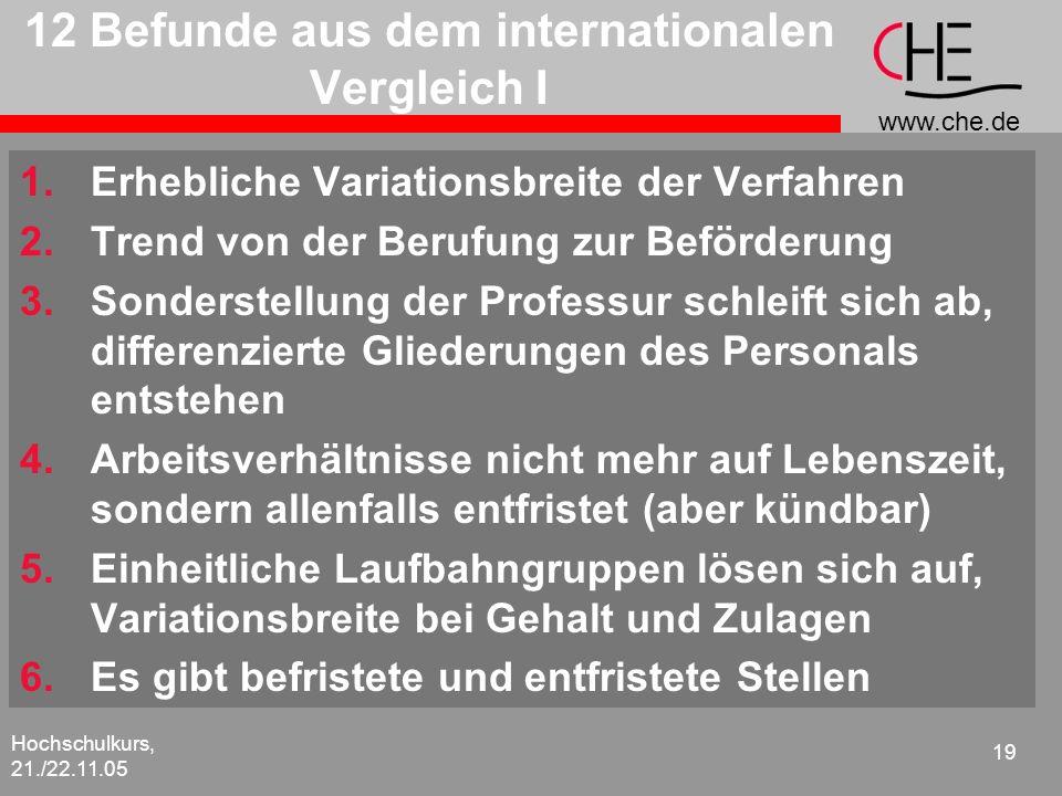 12 Befunde aus dem internationalen Vergleich I