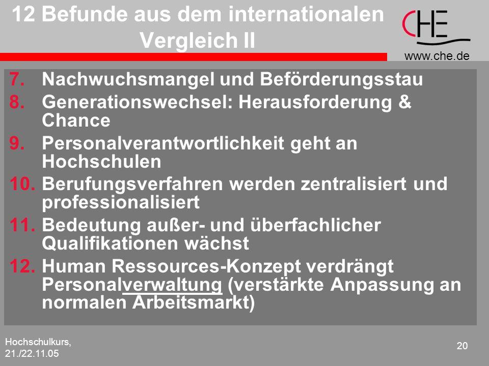 12 Befunde aus dem internationalen Vergleich II