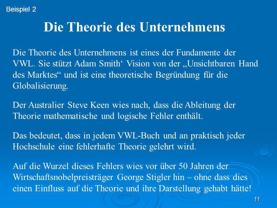 Die Theorie des Unternehmens