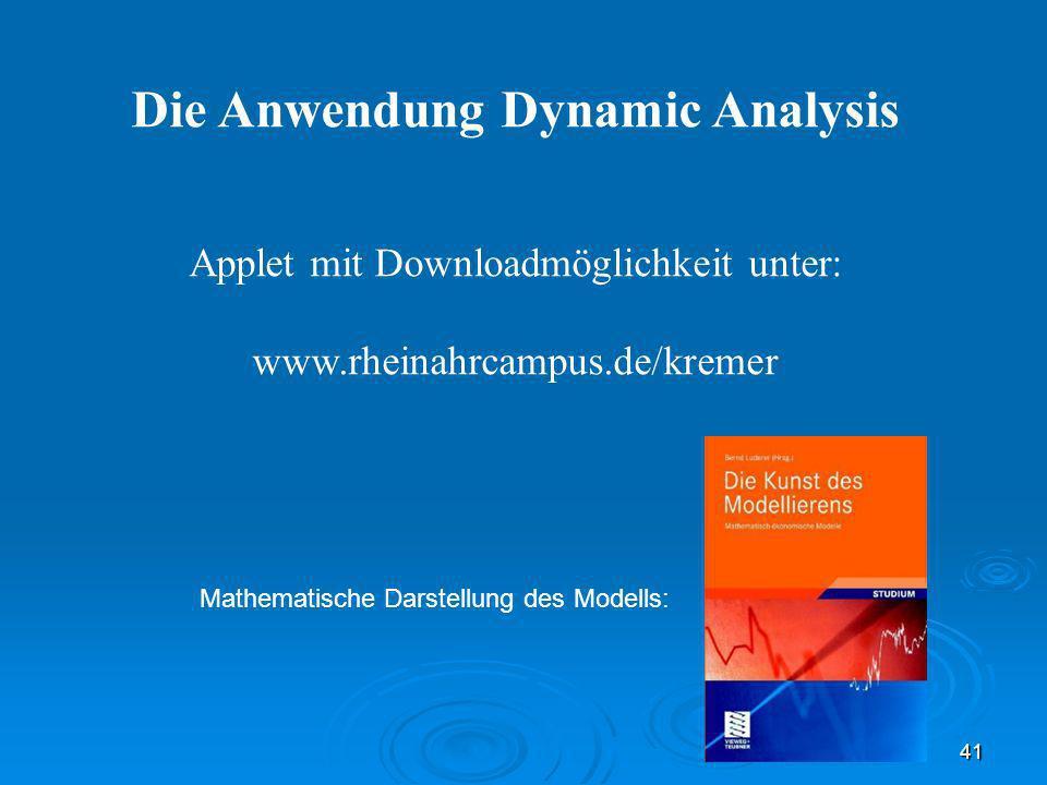 Die Anwendung Dynamic Analysis