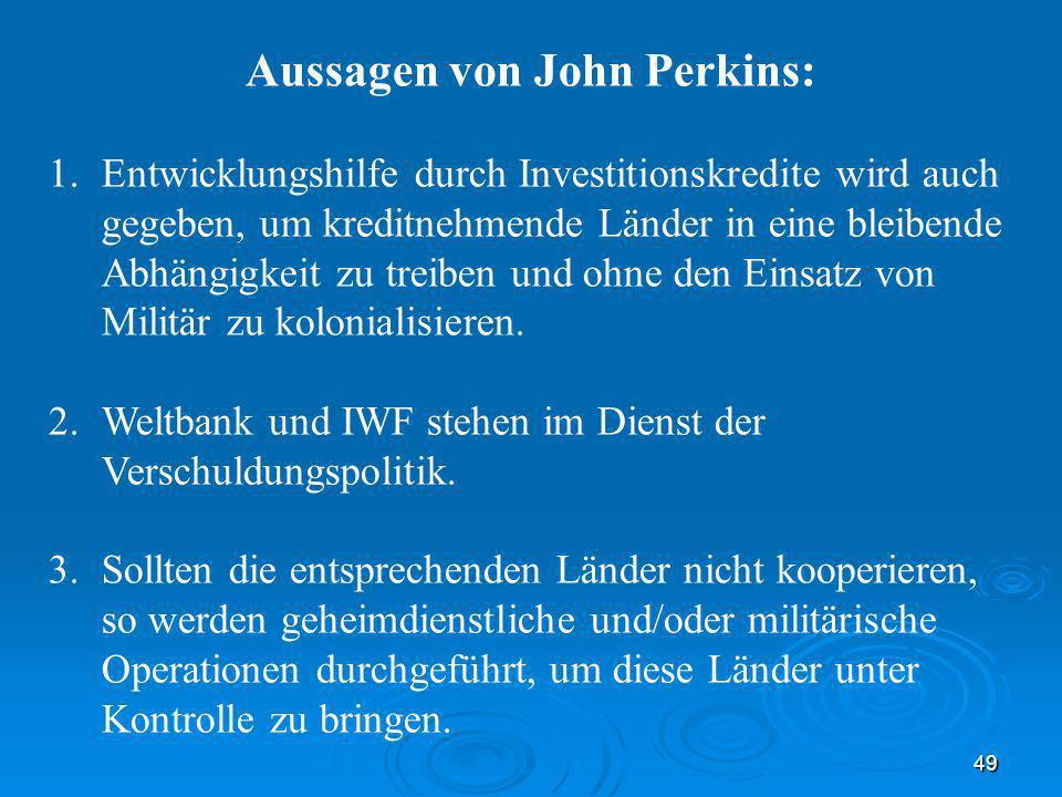 Aussagen von John Perkins: