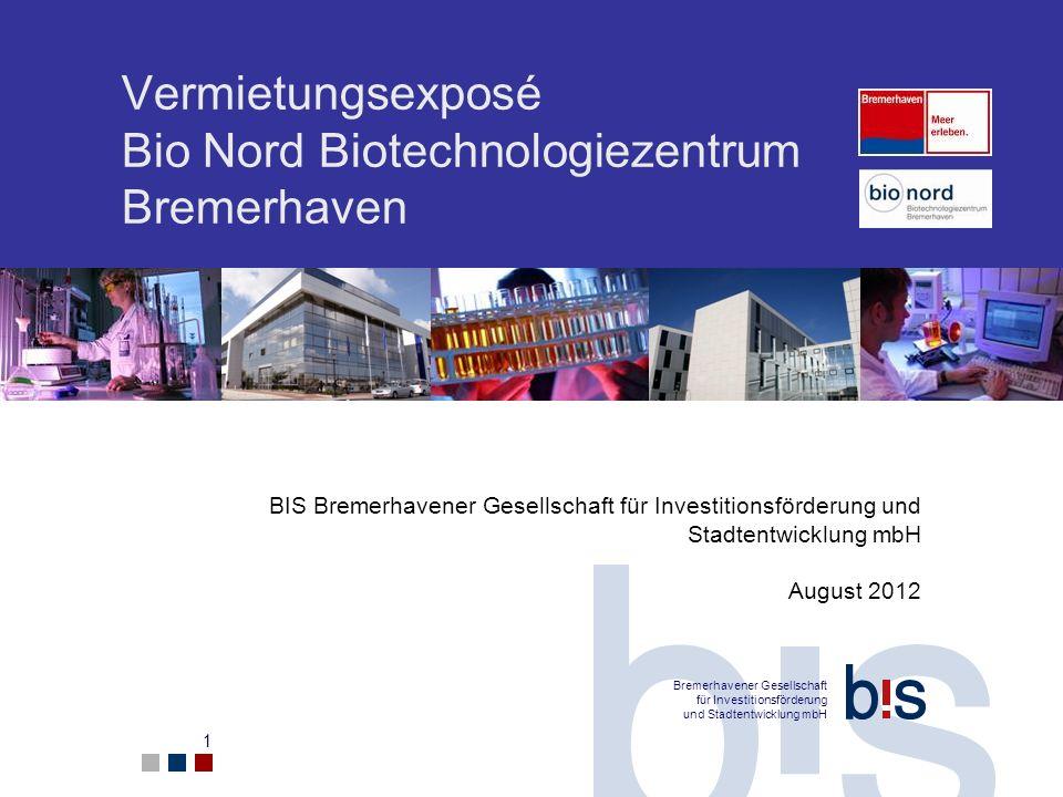 Vermietungsexposé Bio Nord Biotechnologiezentrum Bremerhaven