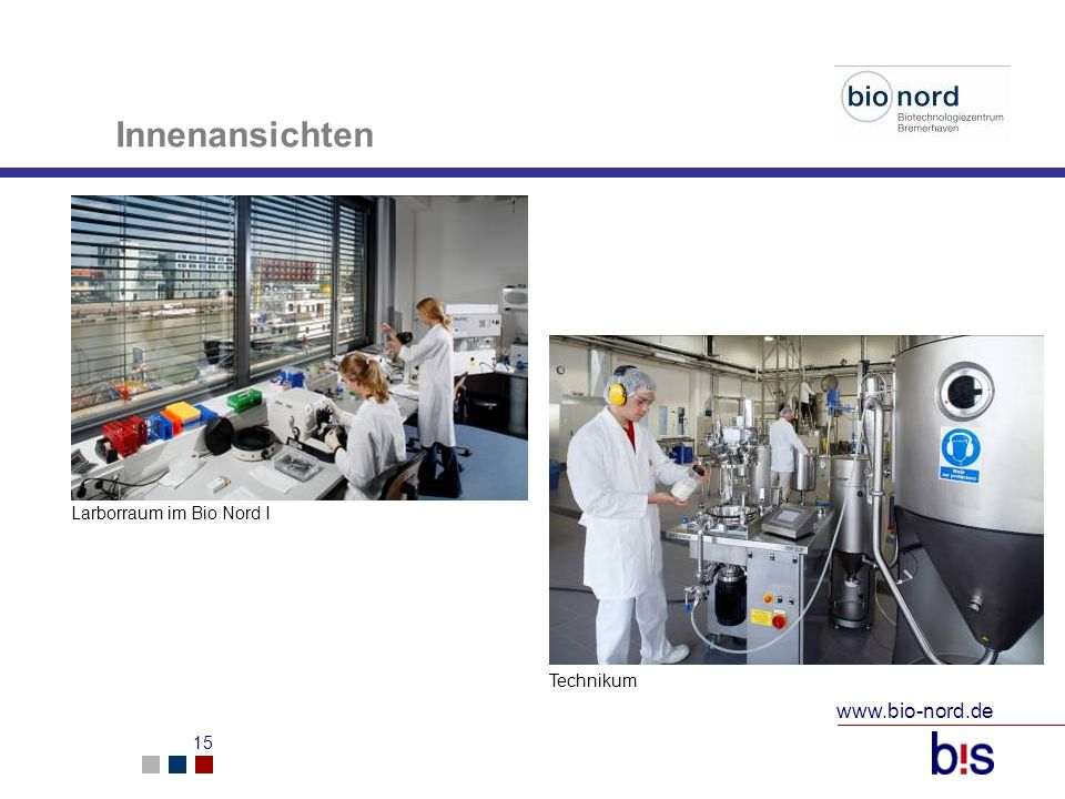 Innenansichten Larborraum im Bio Nord I Technikum www.bio-nord.de