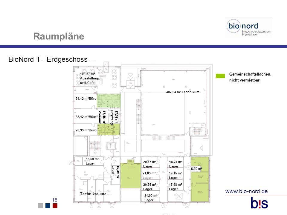 Raumpläne BioNord 1 - Erdgeschoss – www.bio-nord.de